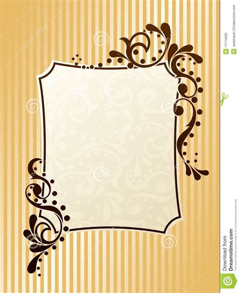 frame pattern ideas rectangular vintage sepia frame stock photography image