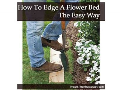 how to edge flower beds how to edge a flower bed the easy way