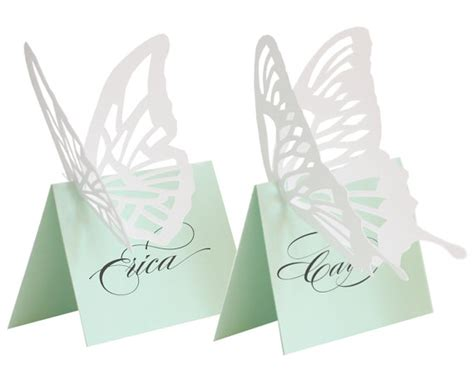 Butterfly Place Cards For Glasses Template by Beveled Glass And Mint Green Seating Plans