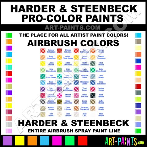 harder and steenbeck pro color airbrush spray paint colors harder and steenbeck pro color