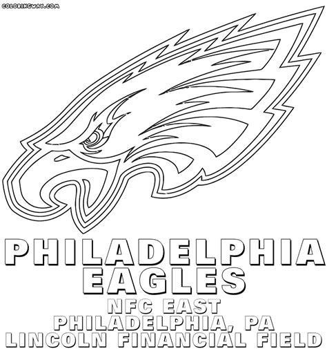 football coloring pages eagles coloring page