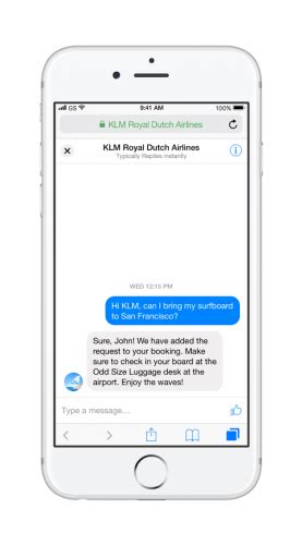 klm mobile klm launches messenger customer chat on klm