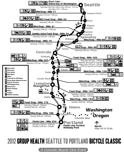 seattle map my ride seattle to portland bike ride map map