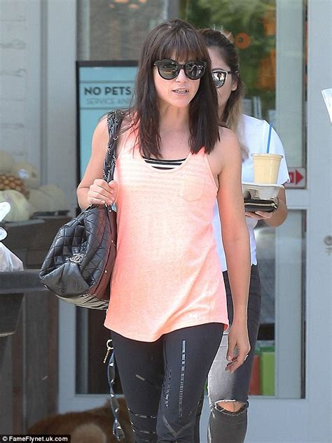 44 year old style selma blair grabs beverages and groceries with her mystery