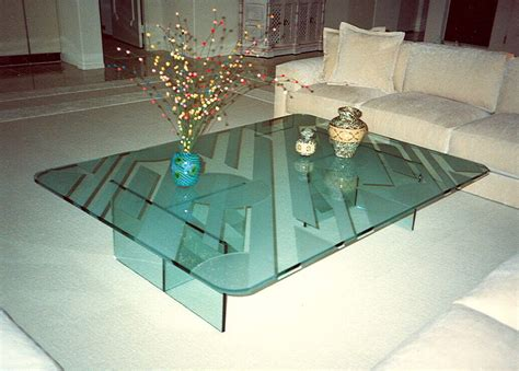etched glass dining table sophistication glass coffee tables sans soucie