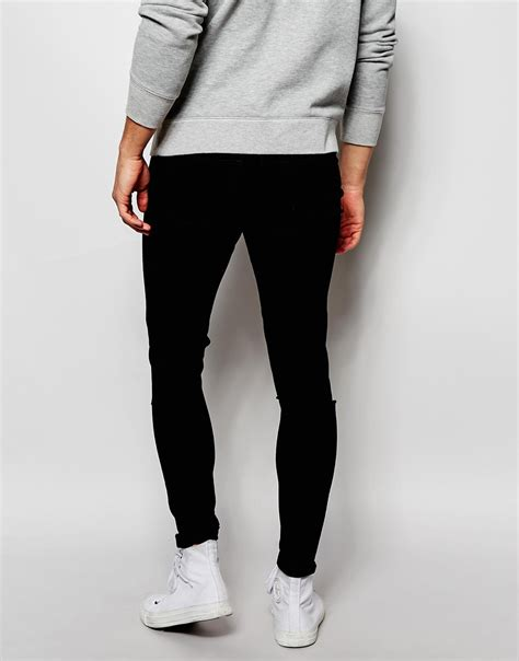Cheap Monday Black Rips Knee Only cheap monday exclusive mid spray