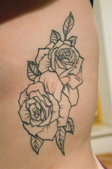 simple rose tattoos on thigh outline thigh tattoodenenasvalencia