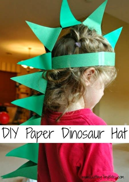 How To Make A Dinosaur Hat Out Of Paper - diy paper dinosaur hat what can we do with paper and glue