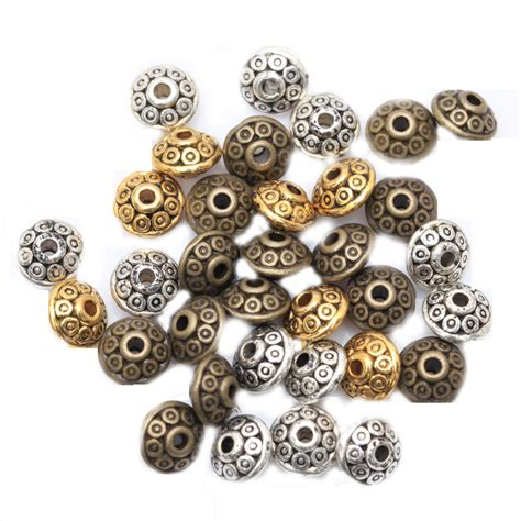 metal charms for jewelry wholesale 100pcs spacer charms mixed color tibetan silver
