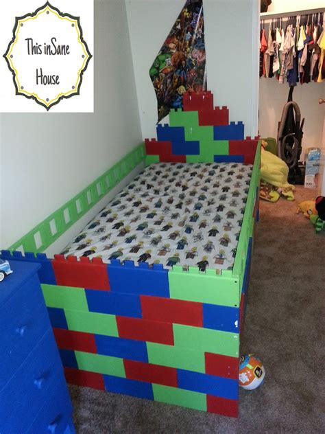 Lego Bed Frame by This House Lego Bed Frame