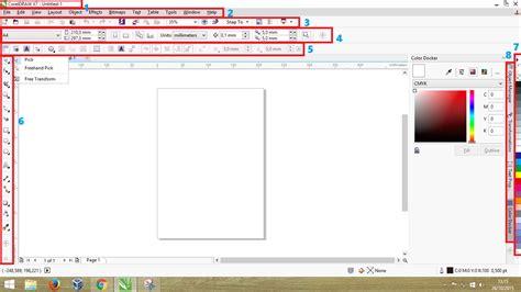 tutorial dasar tentang pengenalan corel draw pengenalan menu menu dasar pada corel draw saishin no