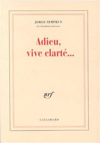 libro adieu vive clarte adieu vive clart 233 detail ermes