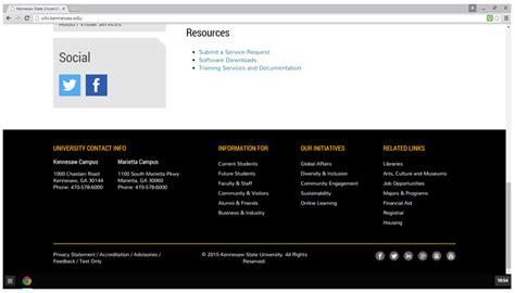 Ksu Template Website Footer Template