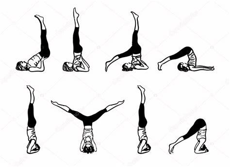 imagenes yoga dibujos complejo de posturas de yoga invertido ilustraci 243 n