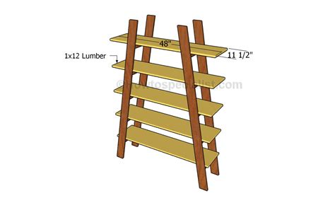 How To Build Ladder Shelf by How To Build Ladder Shelves Howtospecialist How To