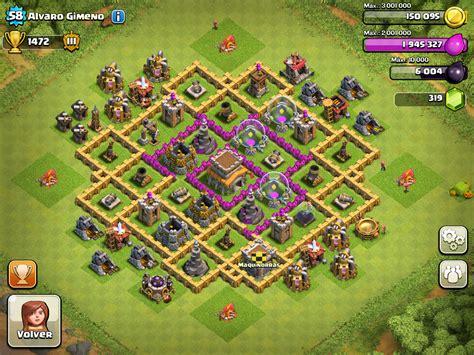 clash of clans ayuntamiento de aldea 8 dise 209 os aldeas ayuntamiento 8