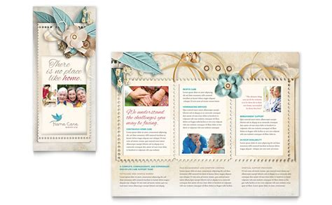 home health care brochure templates hospice home care tri fold brochure template word