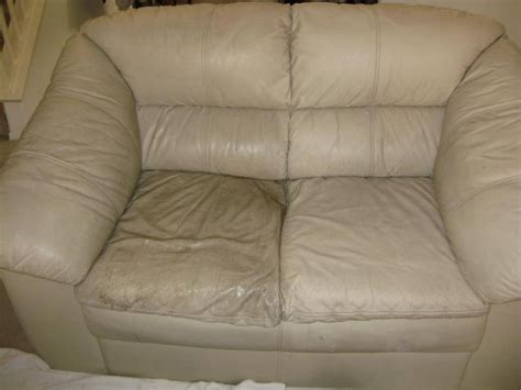 how to remove stain on leather sofa how to clean leather couches half cleaned for the