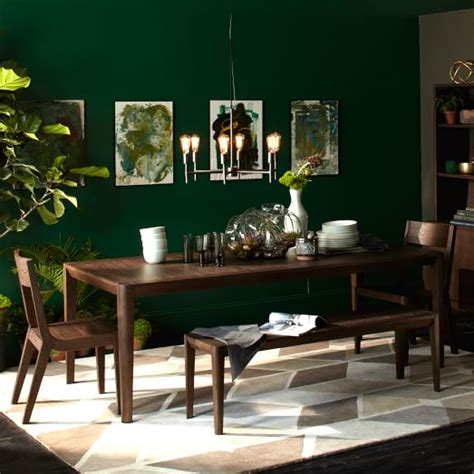 green dining room table cortlandt dining table west elm