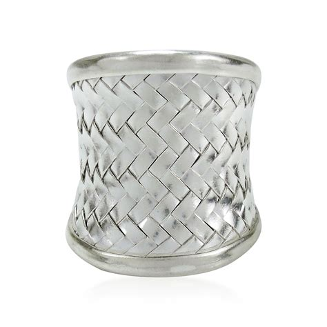 weave wide front thai hill tribe silver ring