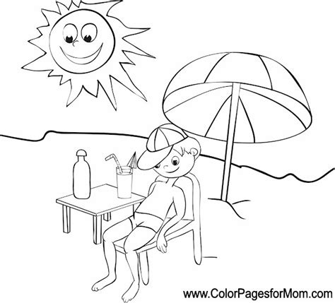 Vacation Coloring Page 5 Vacation Coloring Pages