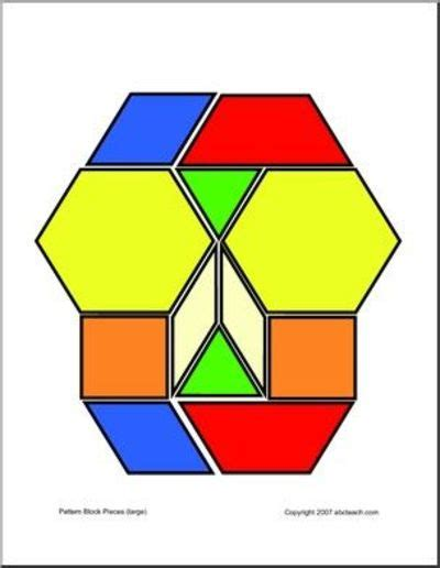 pattern block puzzles printable pattern blocks preschool items juxtapost