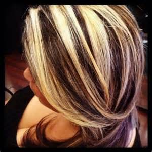 chunky highlights for hair images chocolate brown hair with chunky blonde highlights