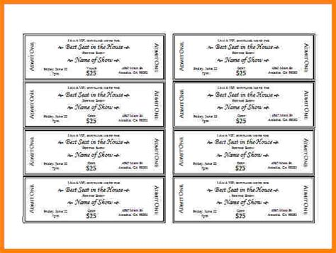 template for tickets with stubs doc food ticket template 13 ticket templates free