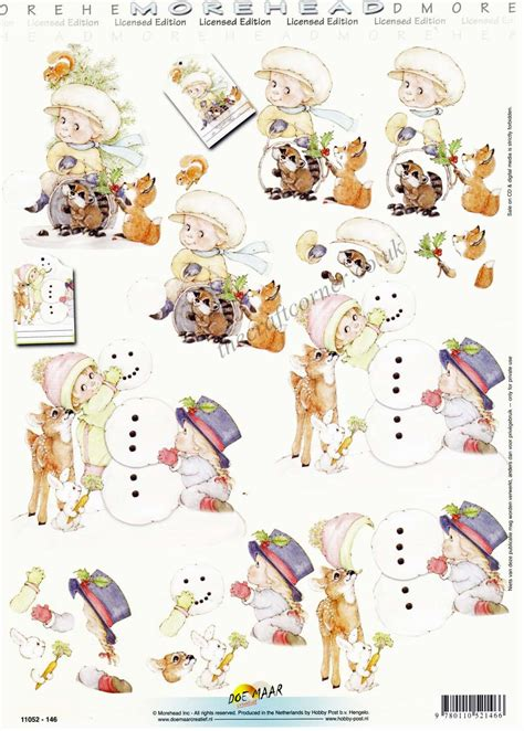 decoupage sheets pin 3d decoupage snowman cracker card kit free on