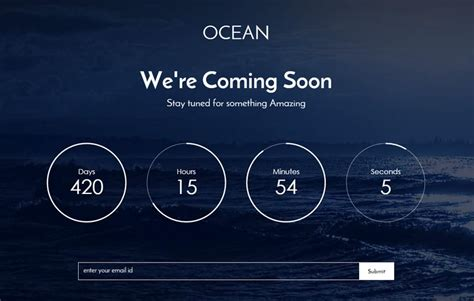 bootstrap themes coming soon free ocean free coming soon bootstrap template webthemez