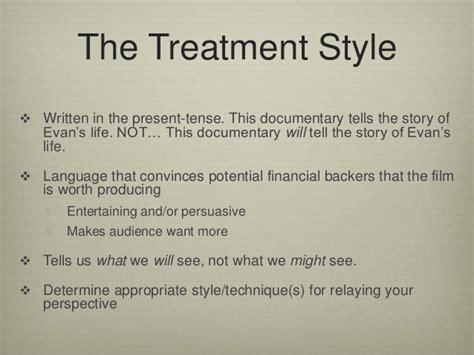 reality show treatment template writing a documentary treatment