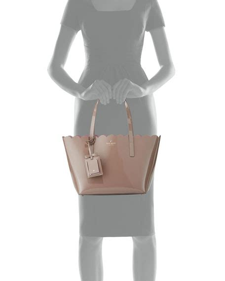Kate Spade Original Patent Leather Taupe Kate Spade Taupe kate spade new york avenue small patent tote bag