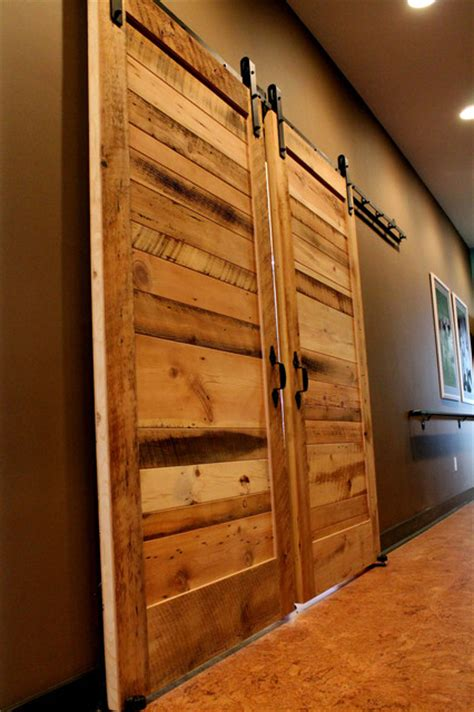 Sliding Barn Door Installation Sliding Barn Doors Contemporary Bedroom Other By Reclaimed Lumber Products