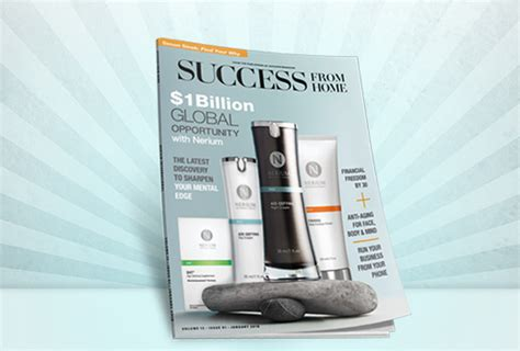 nerium featured in success from home magazine nerium