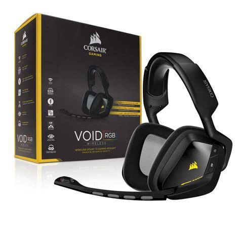 Headset Gaming Corsair corsair void wireless 7 1 gaming headset rgb carbon black wireless 1