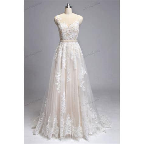 Wedding Dresses Handmade - vintage lace wedding dresses handmade sheer mesh tulle