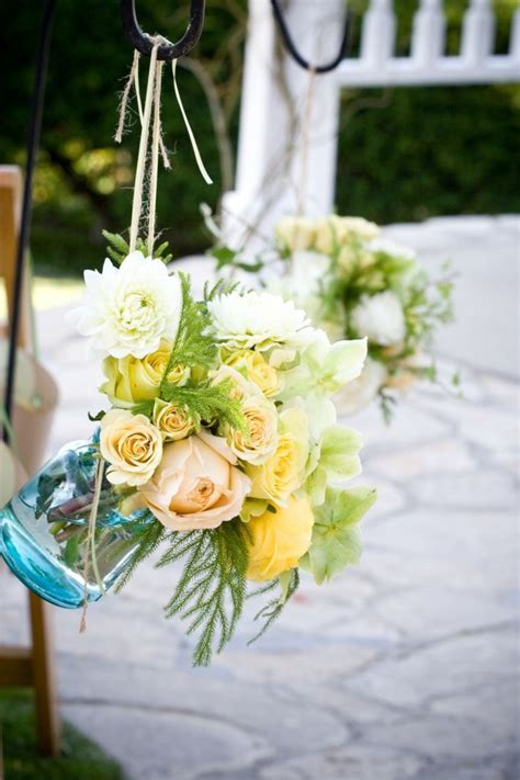Vintage wedding ideas  mason jars for wedding decor   OneWed