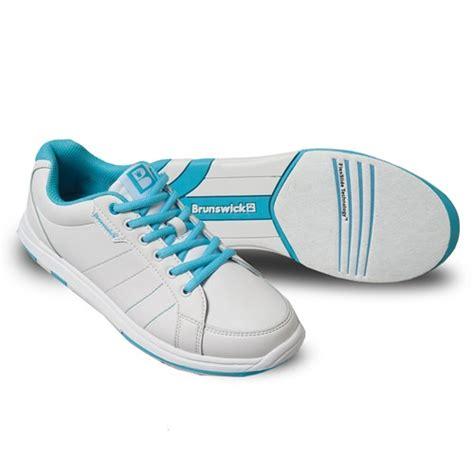 brunswick womens satin white aqua wide width bowling shoes