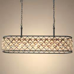 Oblong Chandelier Iron And Oblong Chandelier 11421 Browse