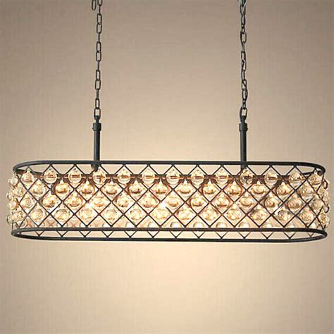 Rectangle Glass Dining Room Table by North Iron And Crystal Oblong Chandelier 11421 Browse