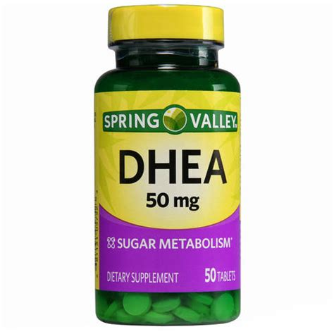 Suplemen Dhea valley dhea dietary supplement tablets 50 mg 50 count walmart