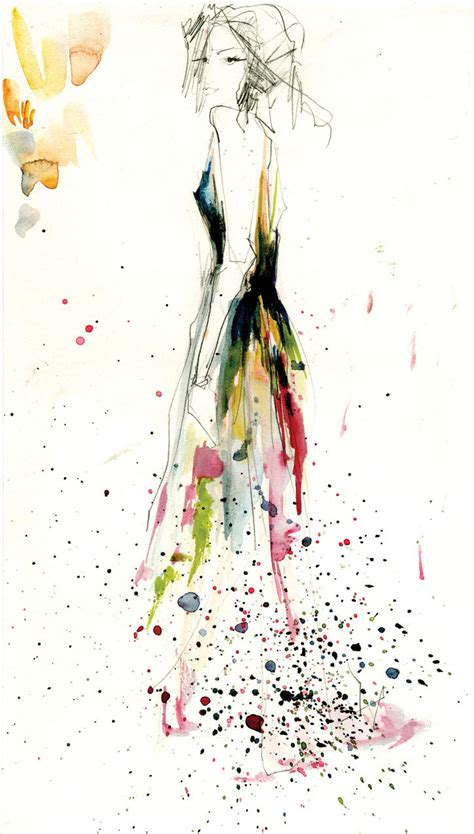 fashion illustration painting original fashion illustration watercolor painting