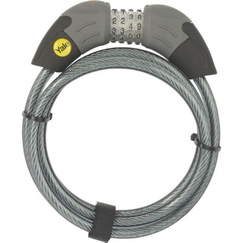 yale standart sifreli kablolu bisiklet kilidi standart
