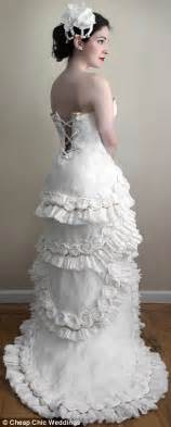 Budget Wedding Dresses Uk Artist Creates Wedding Dress Made Entirely Out Of Toilet Paper Daily Mail Online