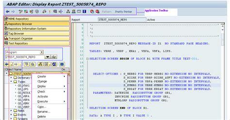 layout editor abap abap tutorial abap workbench tools
