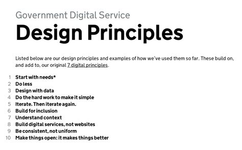 the digital manifesto principles and practices for orchestrating an it value chain books gov uk digital service design principles service