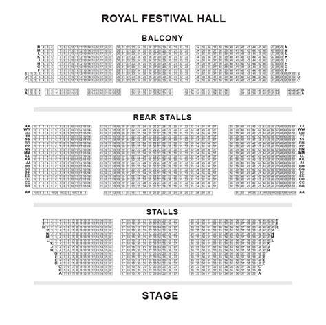 Royal Festival Hall Floor Plan | royal festival hall seating plan london box office