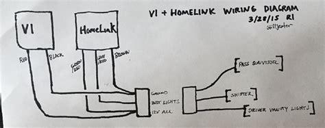 diy e34 v1 hardwire homelink installation
