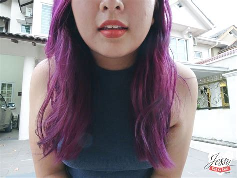 purple hair for asians purple hair with number76 jessy the kl chic malaysia