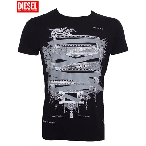 T Shirt Diesel diesel t shirt black t prevail